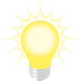 Ampoule allumée. Source : http://data.abuledu.org/URI/5435780b-ampoule-allumee