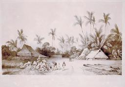 Ancien établissement hollandais dans les Moluques en 1838. Source : http://data.abuledu.org/URI/598164a5-ancien-etablissement-hollandais-dans-les-moluques-en-1838