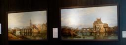 Angers, Le vieux pont des Treilles en 1859. Source : http://data.abuledu.org/URI/562fe131-angers-le-vieux-pont-des-treilles-en-1859