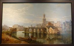 Angers, Le vieux pont des Treilles en 1859. Source : http://data.abuledu.org/URI/562fe190-angers-le-vieux-pont-des-treilles-en-1859