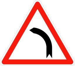 Annonce de virage à gauche. Source : http://data.abuledu.org/URI/5092f495-annonce-de-virage-a-gauche