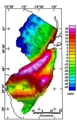 Anomalie gravimétrique de Bouguer. Source : http://data.abuledu.org/URI/50963bd3-anomalie-gravimetrique-de-bouguer-