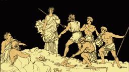 Antigone et le corps de Polynice. Source : http://data.abuledu.org/URI/50d97648-antigone-et-le-corps-de-polynice