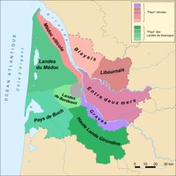 Appelations des pays de Gironde. Source : http://data.abuledu.org/URI/5019a824-appelations-des-pays-de-gironde