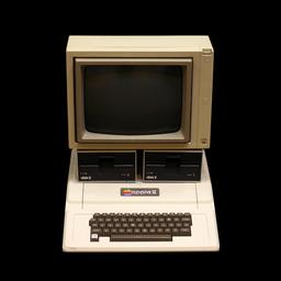 Apple II au musée Bolo de Lausanne. Source : http://data.abuledu.org/URI/5305b6ae-apple-ii-au-musee-bolo-de-lausanne