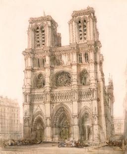 Aquarelle de Notre-Dame de Paris. Source : http://data.abuledu.org/URI/5472efb1-aquarelle-de-notre-dame-de-paris