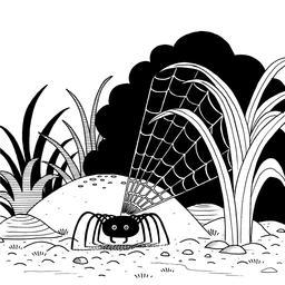 Araignée noire. Source : http://data.abuledu.org/URI/53fba2b8-araignee-noire