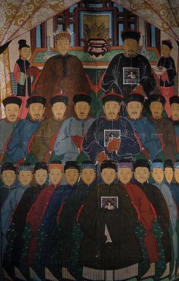 Arbre généalogique d'une famille chinoise. Source : http://data.abuledu.org/URI/50dca003-arbre-genealogique-d-une-famille-chinoise