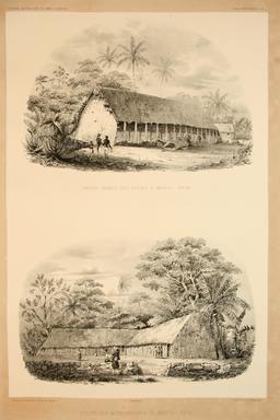 Architecture vernaculaire en Polynésie en 1838. Source : http://data.abuledu.org/URI/59807020-architecture-vernaculaire-en-polynesie-en-1838