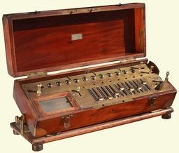 Arithmomètre de Veuve Payen en 1914. Source : http://data.abuledu.org/URI/56f996b6-arithmometre-de-veuve-payen-en-1914
