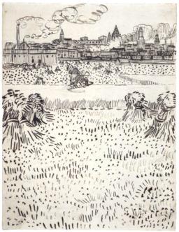 Arles et ses cheminées vue depuis les champs de blé. Source : http://data.abuledu.org/URI/5514089c-arles-et-ses-cheminees-vue-depuis-les-champs-de-ble