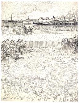 Arles vue depuis les champs de blé en été. Source : http://data.abuledu.org/URI/551406b9-arles-vu-depuis-les-champs-de-ble