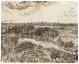 Arles vue puis Montmajour. Source : http://data.abuledu.org/URI/5515cbf6-arles-vue-puis-montmajour