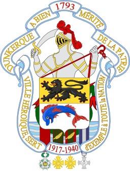 Armoiries de Dunkerque. Source : http://data.abuledu.org/URI/51dc1dc9-armoiries-de-dunkerque