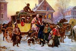 Arrivée de la diligence de Noël en 1795. Source : http://data.abuledu.org/URI/52c05861-arrivee-de-la-diligence-de-noel-en-1795