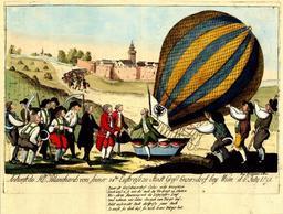Arrivée du ballon de Blanchard à Vienne. Source : http://data.abuledu.org/URI/51606cf1-arrivee-du-ballon-de-blanchard-a-vienne