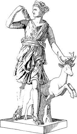 Artémis, déesse de la chasse. Source : http://data.abuledu.org/URI/5102a875-artemis-deesse-de-la-chasse