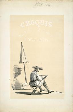 Artiste au travail en 1840. Source : http://data.abuledu.org/URI/539a29e8-artiste-au-travail-en-1840