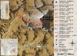 Ascencion de l'Everest en 1953. Source : http://data.abuledu.org/URI/51d098d4-ascencion-de-l-everest-en-1953