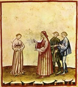 Aspect de la vie quotidienne au Moyen Age : la discrétion féminine. Source : http://data.abuledu.org/URI/50ca5743-aspect-de-la-vie-quotidienne-au-moyen-age-la-discretion-feminine