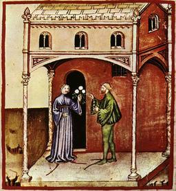 Aspect de la vie quotidienne médiévale : saison chaude. Source : http://data.abuledu.org/URI/50ca5280-aspect-de-la-vie-quotidienne-medievale-saison-chaude