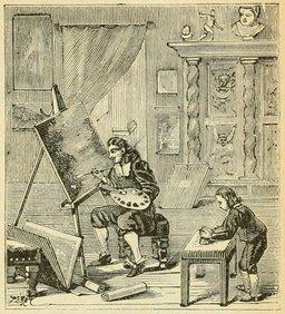 Atelier de peintre, Claude le Lorrain. Source : http://data.abuledu.org/URI/524d7bb2-atelier-de-peintre-claude-le-lorrain