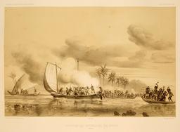 Attaque des Français en 1838. Source : http://data.abuledu.org/URI/598105fc-attaque-des-francais-en-1838