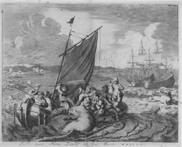 Atterrissage en Nouvelle Zemble en 1660. Source : http://data.abuledu.org/URI/52a71358-atterissage-en-nouvelle-zemble-en-1660