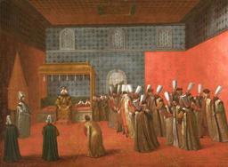 Audience au Palais de Topkapi. Source : http://data.abuledu.org/URI/5113944b-audience-au-palais-de-topkapi