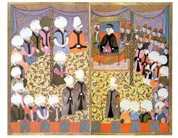 Audience au Palais de Topkapi. Source : http://data.abuledu.org/URI/511395b2-audience-au-palais-de-topkapi