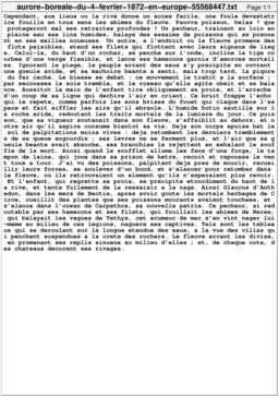 Aurore boréale du 4 février 1872 en Europe. Source : http://data.abuledu.org/URI/55568447-aurore-boreale-du-4-fevrier-1872-en-europe