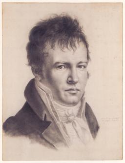 Auto-portrait d'Alexandre von Humboldt. Source : http://data.abuledu.org/URI/50f45639-auto-portrait-d-alexandre-von-humboldt