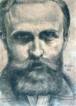 Autoportrait de Hofman. Source : http://data.abuledu.org/URI/51a63774-autoportrait-de-hofman