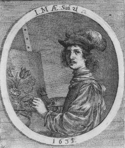 Autoportrait de Jacob Marrel en 1635. Source : http://data.abuledu.org/URI/53efd039-autoportrait-de-jacob-marrel-en-1635