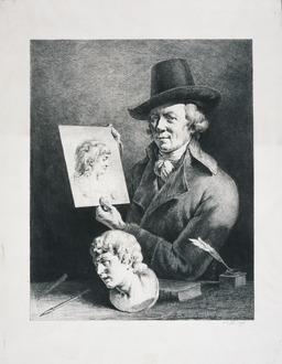 Autoportrait de Jean-Jacques de Boissieu en 1796. Source : http://data.abuledu.org/URI/53b14014-autoportrait-de-jean-jacques-de-boissieu-en-1796