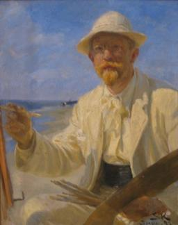 Autoportrait de Peder Severin Krøyer. Source : http://data.abuledu.org/URI/52bb1cc8-autoportrait-de-peder-severin-kr-yer