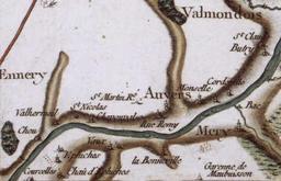 Auvers-sur-Oise sur la Carte de Cassini. Source : http://data.abuledu.org/URI/52b099f3-auvers-sur-oise-sur-la-carte-de-cassini