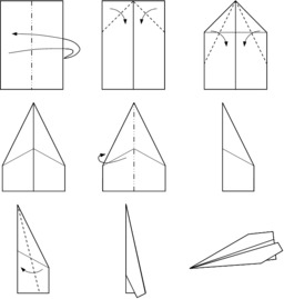 Avion en papier. Source : http://data.abuledu.org/URI/518f765a-avion-en-papier