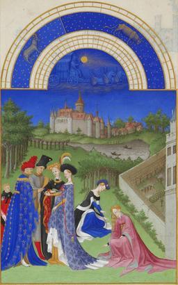 Avril dans les Très Riches Heures du Duc de Berry. Source : http://data.abuledu.org/URI/531c51ef-avril-dans-les-tres-riches-heures-du-duc-de-berry