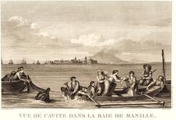 Baie de Manille par Lapérouse en 1797. Source : http://data.abuledu.org/URI/5990e183-baie-de-manille-par-laperouse-en-1797