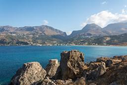Baie de Plakias en Crète. Source : http://data.abuledu.org/URI/551ed3cf-baie-de-plakias-en-crete