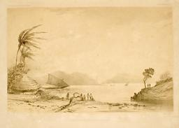 Baie de Vavao en Polynésie en 1838. Source : http://data.abuledu.org/URI/5980a754-baie-de-vavao-en-polynesie-en-1838