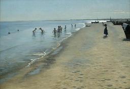 Baignade d'enfants sur une plage danoise. Source : http://data.abuledu.org/URI/52bb22b6-baignade-d-enfants-sur-une-plage-danoise