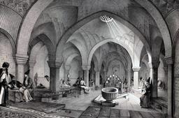 Bains de Khosro Agha à Ispahan. Source : http://data.abuledu.org/URI/56520b2a-bains-de-khosro-agha-a-ispahan
