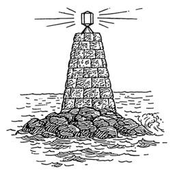 Balise lumineuse en mer. Source : http://data.abuledu.org/URI/53b99dd2-balise-lumineuse-en-mer