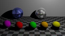 Balles métalliques et jeux de reflets. Source : http://data.abuledu.org/URI/5386ec2b-balles-metalliques-et-jeux-de-reflets