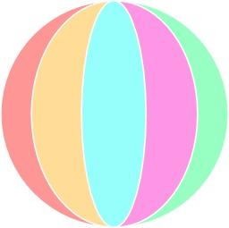 Ballon de plage de toutes les couleurs. Source : http://data.abuledu.org/URI/5404d77b-ballon-de-plage-de-toutes-les-couleurs