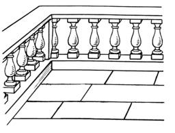 Balustrade de balcon ou de terrasse. Source : http://data.abuledu.org/URI/53b9946a-balustrade-de-balcon-ou-de-terrasse
