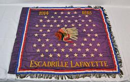 Bannière de l'escadrille Lafayette. Source : http://data.abuledu.org/URI/53a9aa35-banniere-de-l-escadrille-lafayette