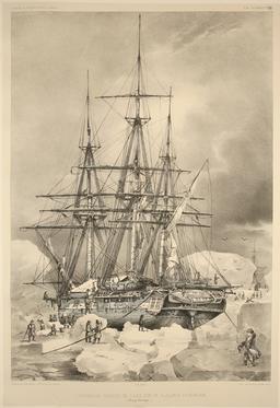 Banquise en 1838. Source : http://data.abuledu.org/URI/59804263-banquise-en-1838